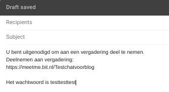 Screenshot videobellen met Jitsi wachtwoord mailen.
