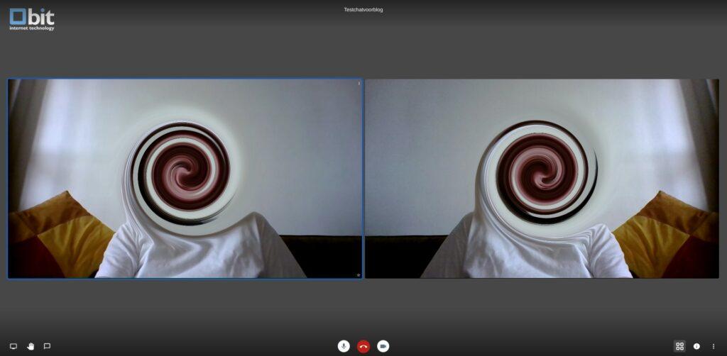 Screenshot videobellen met Jitsi instellen.