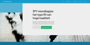 Screenshot mondkapjes website in het Nederlands.