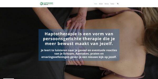 Screenshot startpagina Haptonomie praktijk Amsterdam.