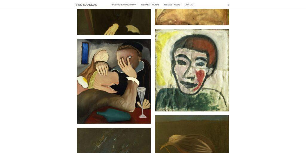 Screenshot schilderijen Sieg Maandag.